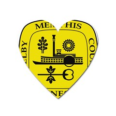 Seal Of Memphis  Heart Magnet