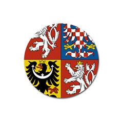 Coat Of Arms Of The Czech Republic Magnet 3  (round) by abbeyz71