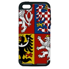 Coat Of Arms Of The Czech Republic Apple Iphone 5 Hardshell Case (pc+silicone)