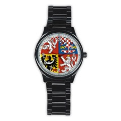 Coat Of Arms Of The Czech Republic Stainless Steel Round Watch by abbeyz71