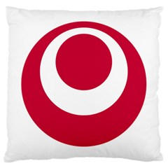 Emblem Of Okinawa Prefecture Large Cushion Case (two Sides)