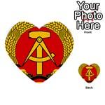 National Emblem Of East Germany  Multi-purpose Cards (Heart)  Back 19