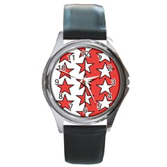 Coat Of Arms Of Valais Canton Round Metal Watch by abbeyz71