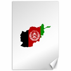 Flag Map Of Afghanistan Canvas 20  x 30   by abbeyz71