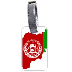 Flag Map Of Afghanistan Luggage Tags (Two Sides) by abbeyz71