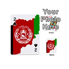 Flag Map Of Afghanistan Playing Cards 54 (Mini)  by abbeyz71