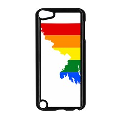Lgbt Flag Map Of Maryland  Apple iPod Touch 5 Case (Black) by abbeyz71