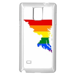 Lgbt Flag Map Of Maryland  Samsung Galaxy Note 4 Case (white)