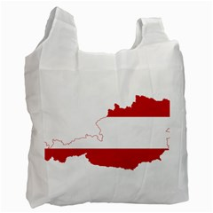 Flag Map Of Austria Recycle Bag (one Side) by abbeyz71