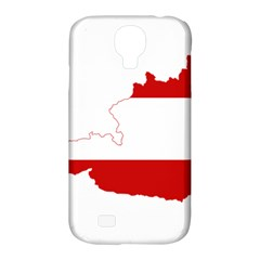 Flag Map Of Austria Samsung Galaxy S4 Classic Hardshell Case (pc+silicone)