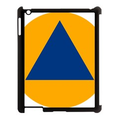 International Sign Of Civil Defense Roundel Apple Ipad 3/4 Case (black)