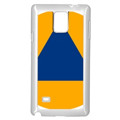 International Sign Of Civil Defense Roundel Samsung Galaxy Note 4 Case (White) by abbeyz71