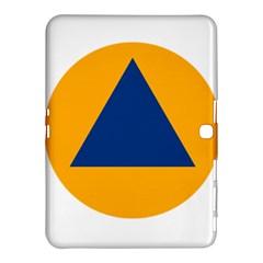 International Sign Of Civil Defense Roundel Samsung Galaxy Tab 4 (10 1 ) Hardshell Case