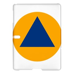 International Sign Of Civil Defense Roundel Samsung Galaxy Tab S (10 5 ) Hardshell Case