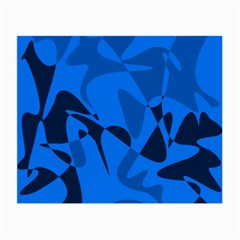 Blue Pattern Small Glasses Cloth by Valentinaart