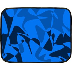 Blue Pattern Fleece Blanket (mini) by Valentinaart