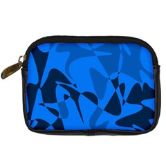 Blue Pattern Digital Camera Cases by Valentinaart