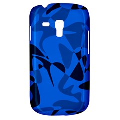 Blue Pattern Samsung Galaxy S3 Mini I8190 Hardshell Case by Valentinaart