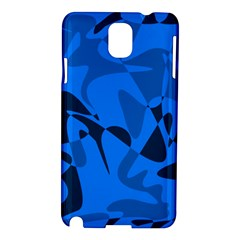 Blue Pattern Samsung Galaxy Note 3 N9005 Hardshell Case by Valentinaart