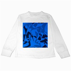 Blue Pattern Kids Long Sleeve T Shirts by Valentinaart