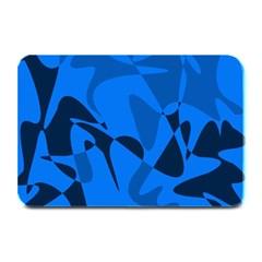 Blue Pattern Plate Mats by Valentinaart