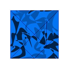 Blue Pattern Acrylic Tangram Puzzle (4  X 4 ) by Valentinaart