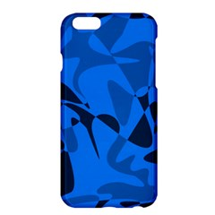Blue Pattern Apple Iphone 6 Plus/6s Plus Hardshell Case by Valentinaart