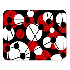 Red, black and white pattern Double Sided Flano Blanket (Large)  by Valentinaart