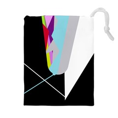 Colorful Abstraction Drawstring Pouches (extra Large) by Valentinaart
