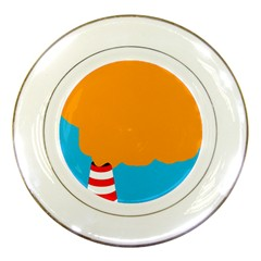 Chimney Porcelain Plates by Valentinaart