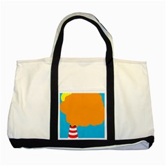 Chimney Two Tone Tote Bag by Valentinaart