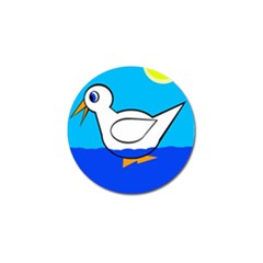 White Duck Golf Ball Marker by Valentinaart