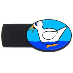 White Duck Usb Flash Drive Oval (2 Gb)  by Valentinaart