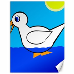 White Duck Canvas 36  X 48   by Valentinaart