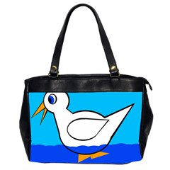 White Duck Office Handbags (2 Sides)  by Valentinaart