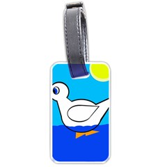 White Duck Luggage Tags (one Side)  by Valentinaart
