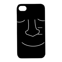 Sleeping Face Apple Iphone 4/4s Hardshell Case With Stand by Valentinaart