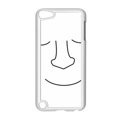 Sleeping face Apple iPod Touch 5 Case (White) by Valentinaart