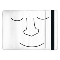 Sleeping Face Samsung Galaxy Tab Pro 12 2  Flip Case by Valentinaart