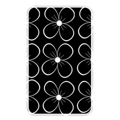 Black and white floral pattern Memory Card Reader by Valentinaart