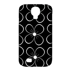 Black And White Floral Pattern Samsung Galaxy S4 Classic Hardshell Case (pc+silicone) by Valentinaart