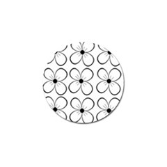 White Flowers Pattern Golf Ball Marker (4 Pack) by Valentinaart