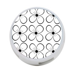 White Flowers Pattern 4 Port Usb Hub (two Sides)  by Valentinaart