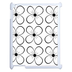 White Flowers Pattern Apple Ipad 2 Case (white) by Valentinaart