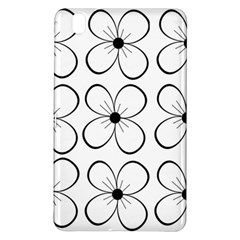 White Flowers Pattern Samsung Galaxy Tab Pro 8 4 Hardshell Case by Valentinaart