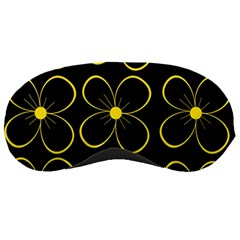 Yellow Flowers Sleeping Masks by Valentinaart