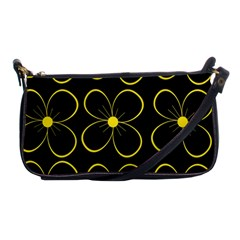 Yellow Flowers Shoulder Clutch Bags by Valentinaart
