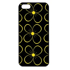 Yellow Flowers Apple Iphone 5 Seamless Case (black) by Valentinaart