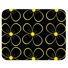 Yellow Flowers Double Sided Flano Blanket (medium)  by Valentinaart