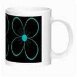 Blue flowers Night Luminous Mugs Right
